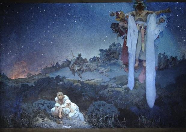 ミュシャの作品に見る、獅子座が自ら放つ光と尊厳がもたらす他者への敬意